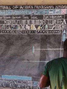 A Teacher Explains Windows OS In An African Village With No PCs