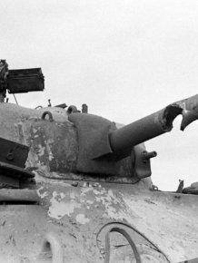 Tank Shot Through Barrel