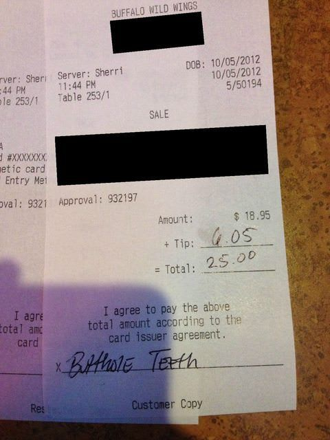 Funny Receipt Notes