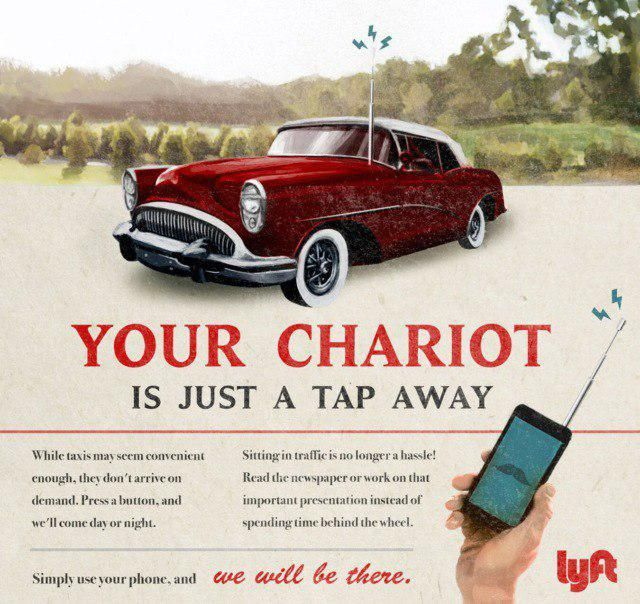 How Would The Advertisement Of Tesla, Spotify, Lyft, Airbnb And Snapchat Look Like In The 1950s