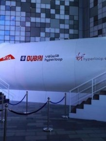Hyperloop Prototype Makes Global Debut In Dubai