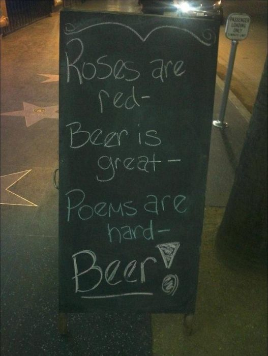 Funny Chalk Board Signs