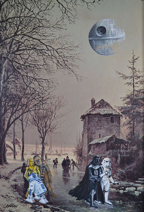 Artists Add Star Wars Characters To Old Thrift Store Paintings