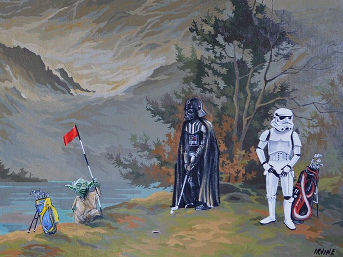 Artists Add Star Wars Characters To Old Thrift Store