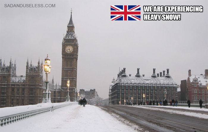 Internet Laughs at Brits Who Are In Absolute Chaos Because Of a Little Snow