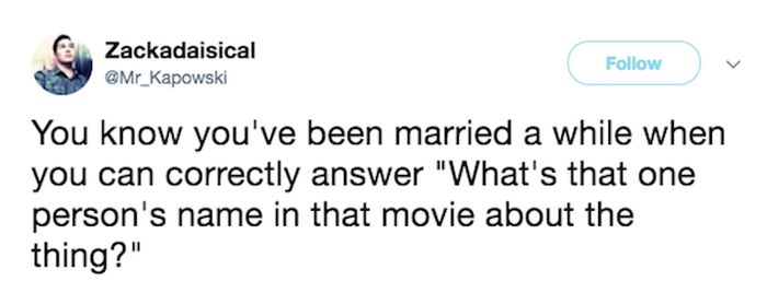 Funny Tweets About Married Life