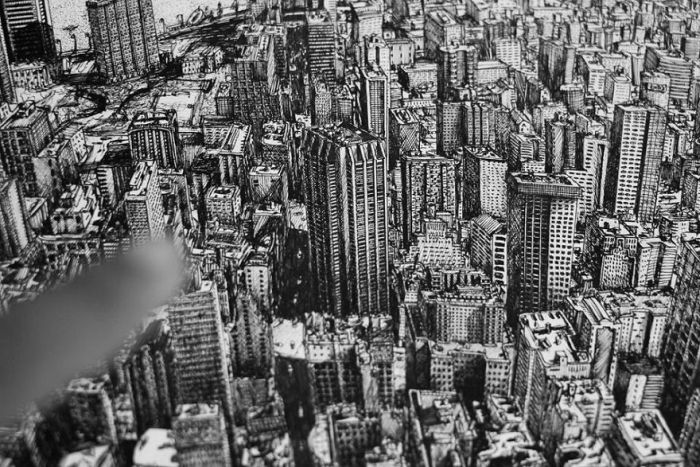 Incredible Drawing Of New York City