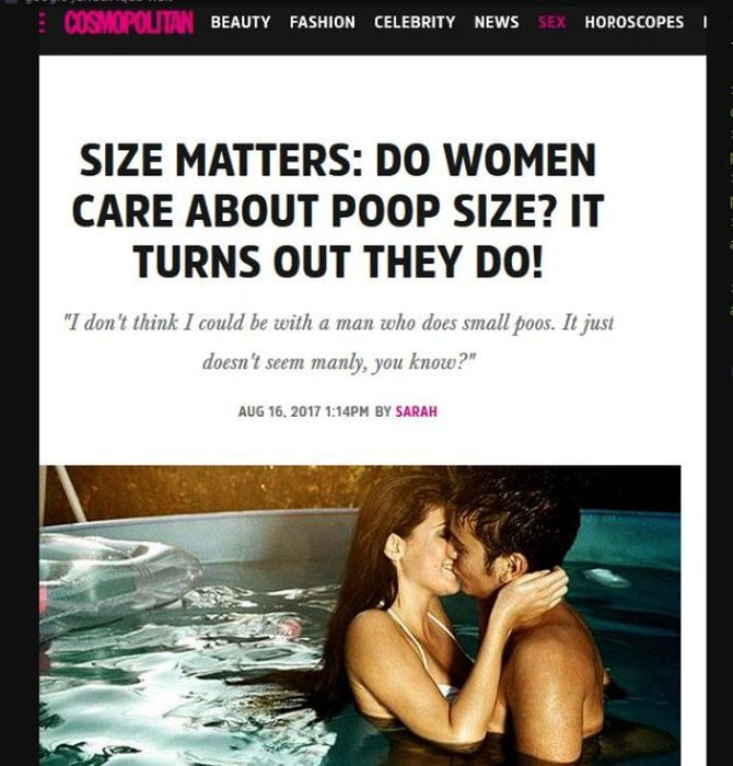 Questionable Things Published in Cosmo