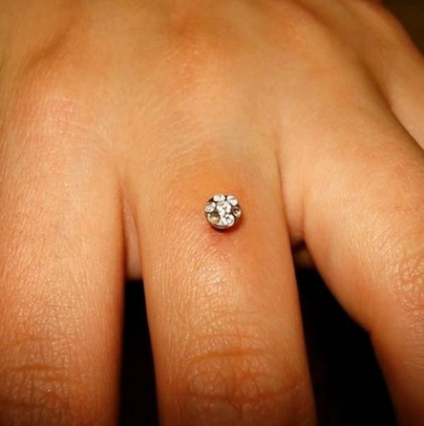Brides-to-be Are Getting Diamonds Pierced Into Their Engagement Ring Finger