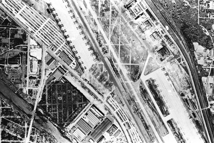 A Fake Rooftop Town Built To Hide Boeing's Factory From Japanese Air Strikes