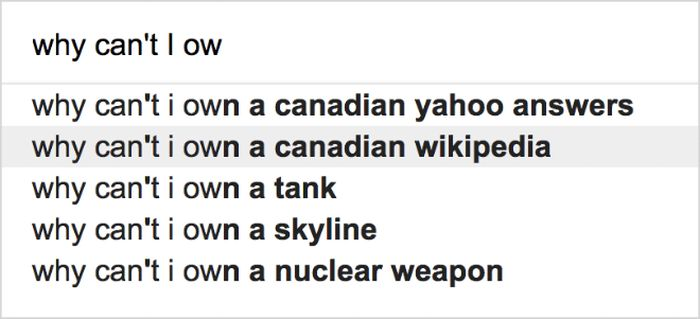 Strange Google Search Suggestions, part 2