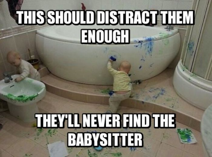 Funny Pictures About Babysitting