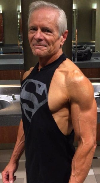 68-Year-Old Man With A Six-Pack