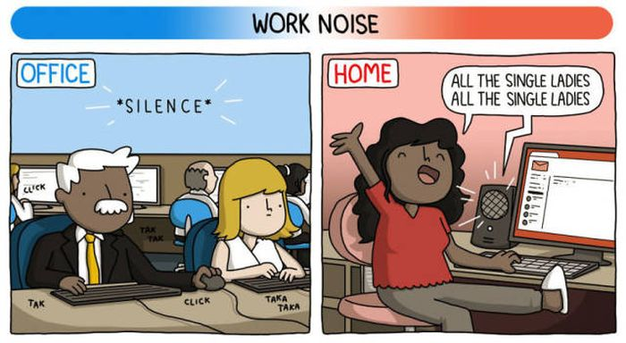 Working At Home Vs Working At The Office