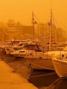 African Dust Hits The island of Crete