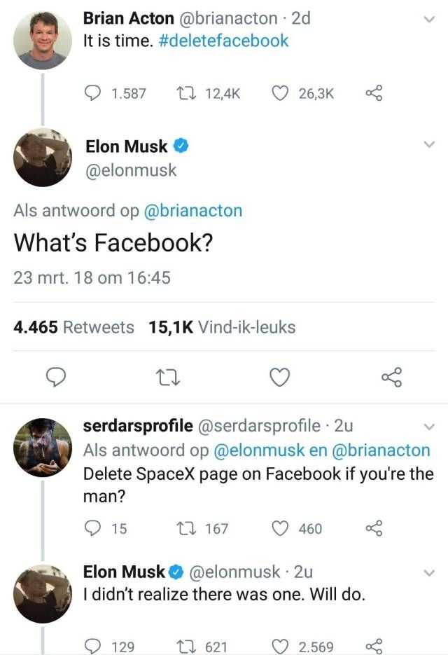 Elon Musk Doesn't Care About Facebook Anymore