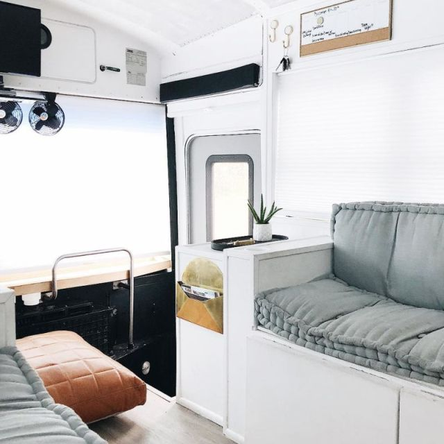 A School Bus Turned Into A Wheeled House