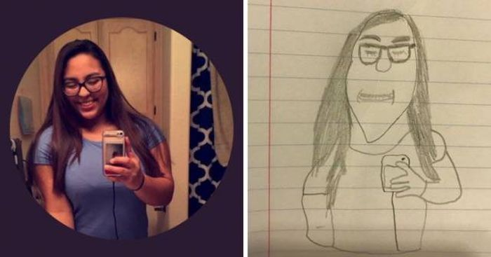 A Boy Offered Twitter Users To Draw Their Portraits
