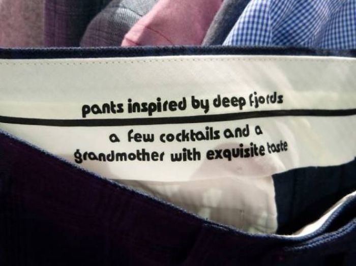 Funny Clothing Labels