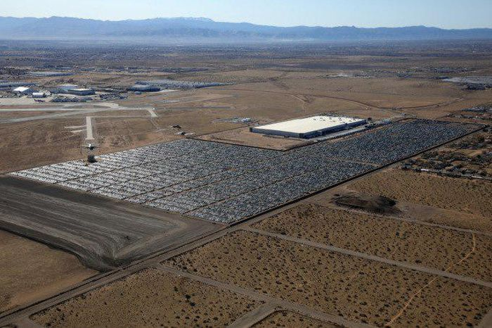 Volkswagen Cemetery On The Territory Of The Former US Air Force Base In California After The Dieselgate