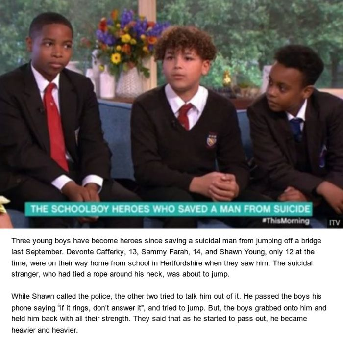 How Three Schoolboys Saved A Man's Life