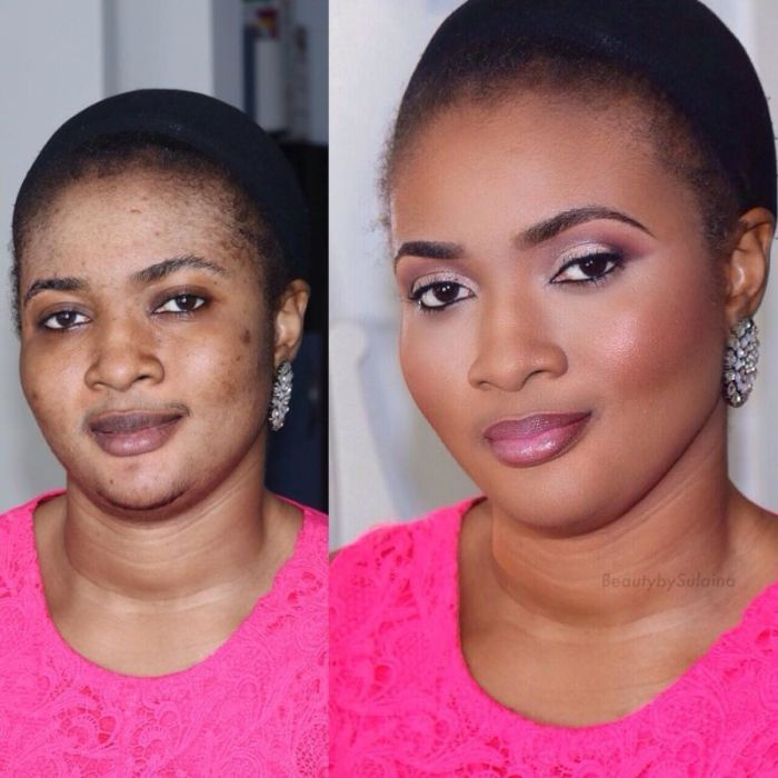 Girls Before And After Make-up
