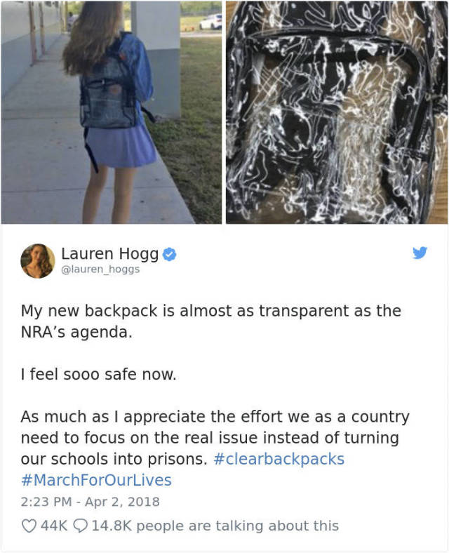 Parkland Students Are Now Forced To Use Transparent Backpacks