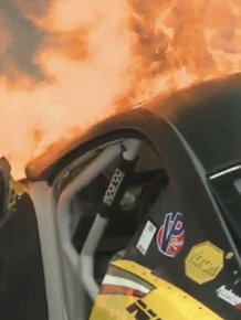 Formula Drift Ferrari Catches Fire On Debut
