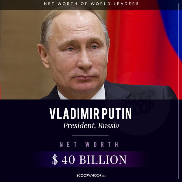 The Net Worth Of The World Leaders. Not Very Official