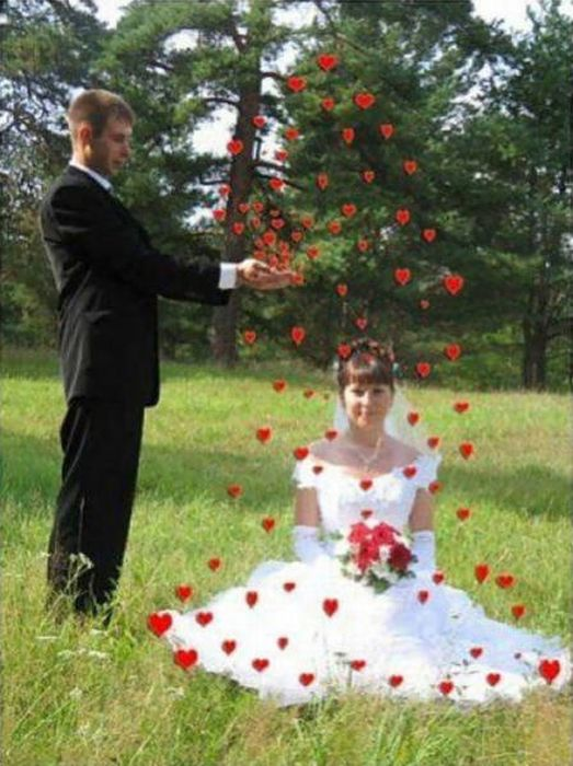 Weird Russian Wedding Photos