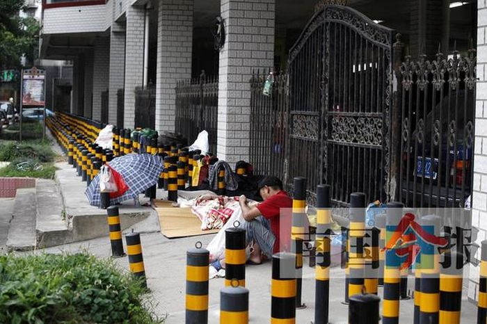Anti-Homeless Architecture In China