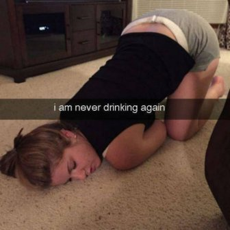 Funny Hangover Snapchats From The Next Day