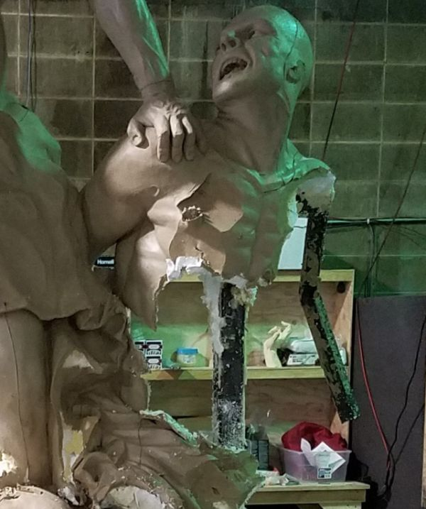 Tragic. This Guy Was Working On This Sculpture For 5 Years