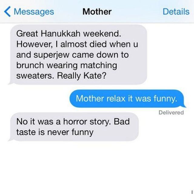Texts From Crazy Jewish Mom