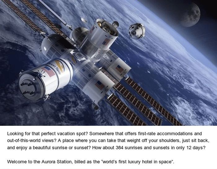 Space Hotel Will Be Cool But Very Expensive