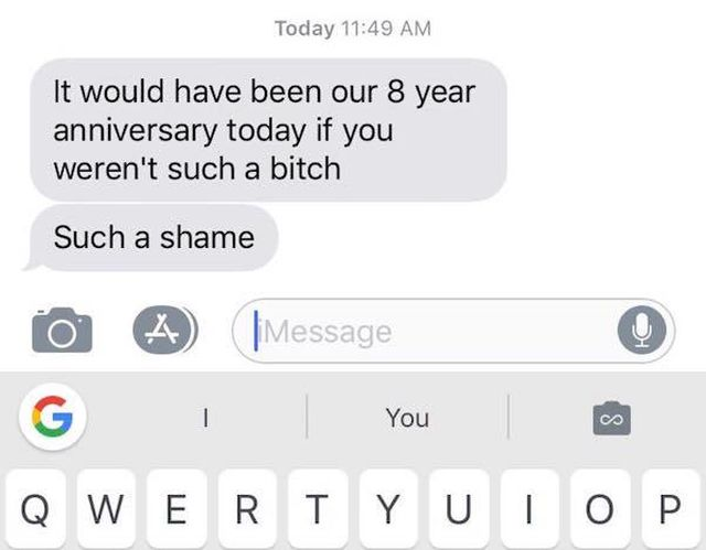 Crazy Texts From Exes