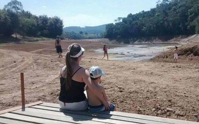 6 Months Apart. Water Crisis in São Paulo, Brazil