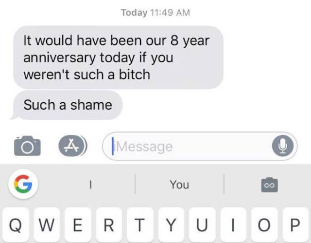 Texting With Your Ex Is A Bad Idea