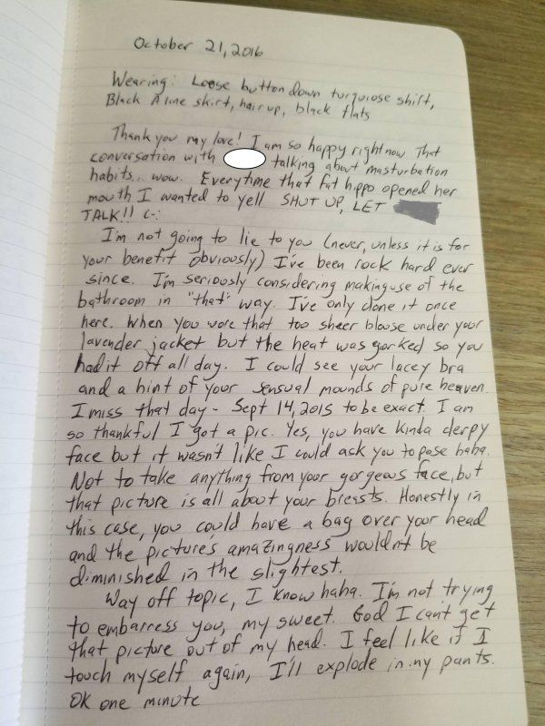 Co-worker Sends Girl Love Letters, And Gets What He Deserves