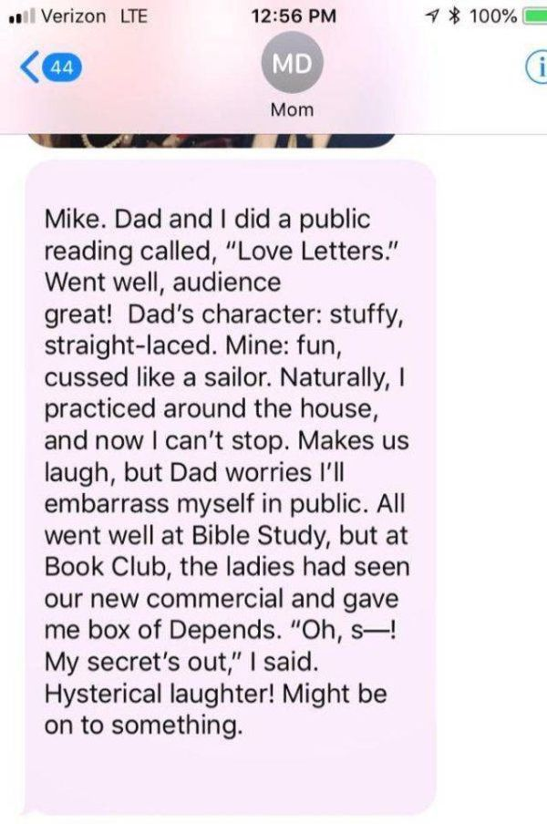 Mike Rowe's Mom Sends The Most Adorable Texts To Her Son