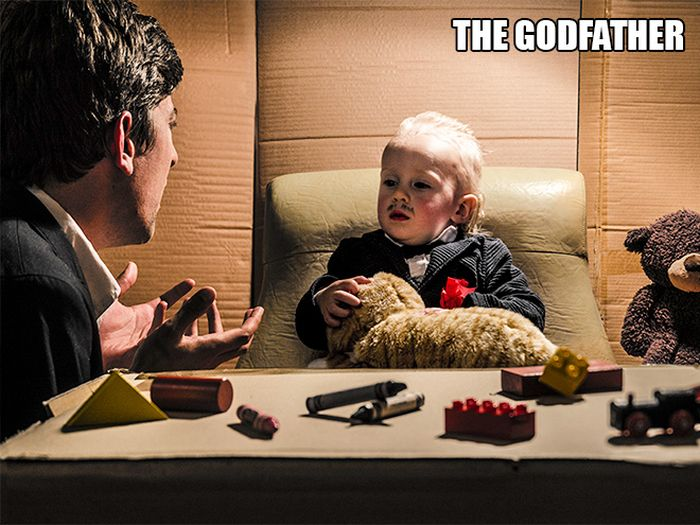 Parents Recreate Movie Scenes With Their Baby