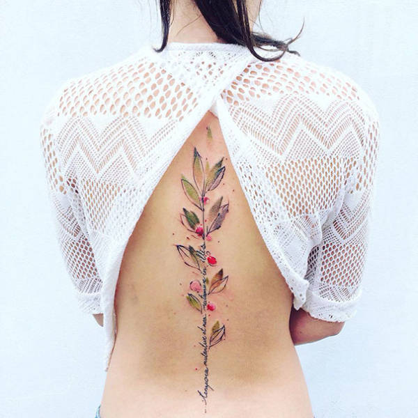 Awesome Spine Tattoos