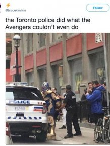 Toronto Police Arrested Thanos