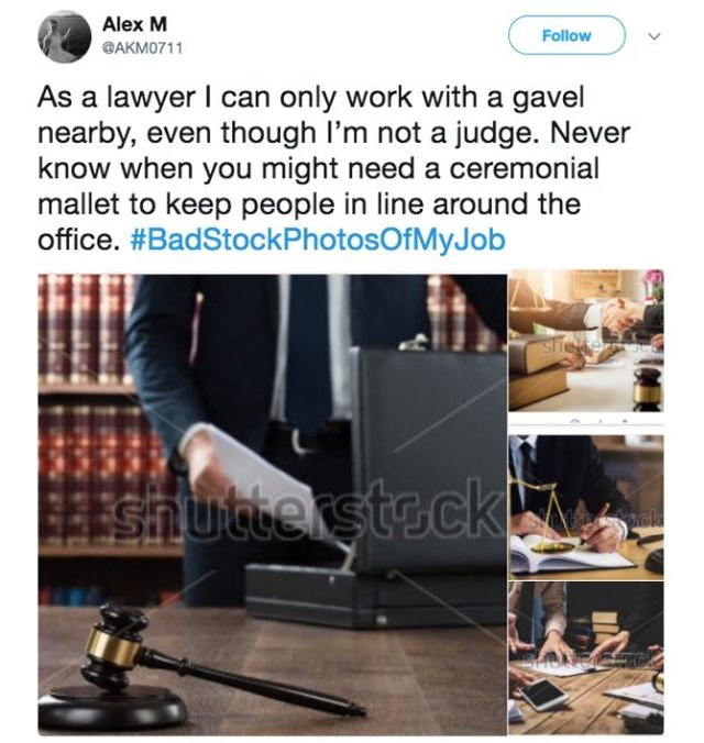Bad Stock Photos Of My Job
