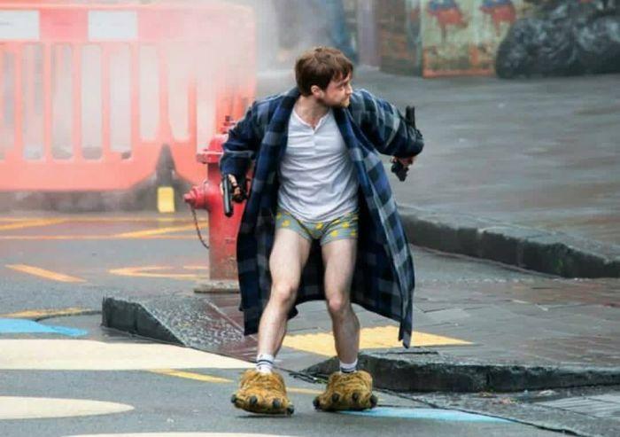 "Daniel Radcliffe On The Set Of ""Guns Akimbo"" Movie"