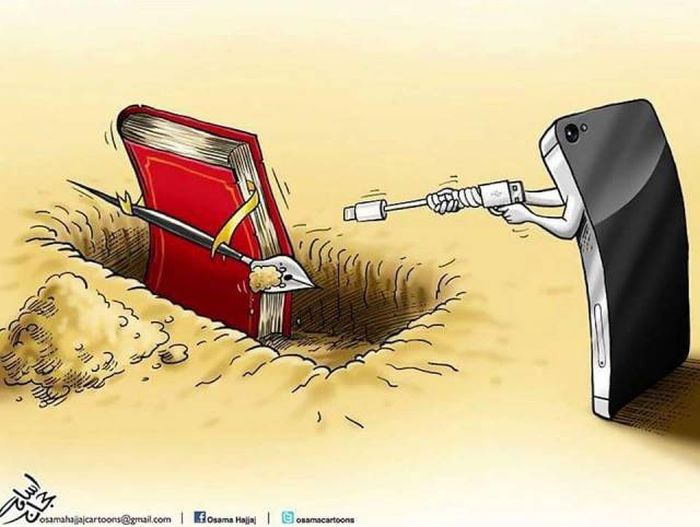 Caricatures About Modern Problems