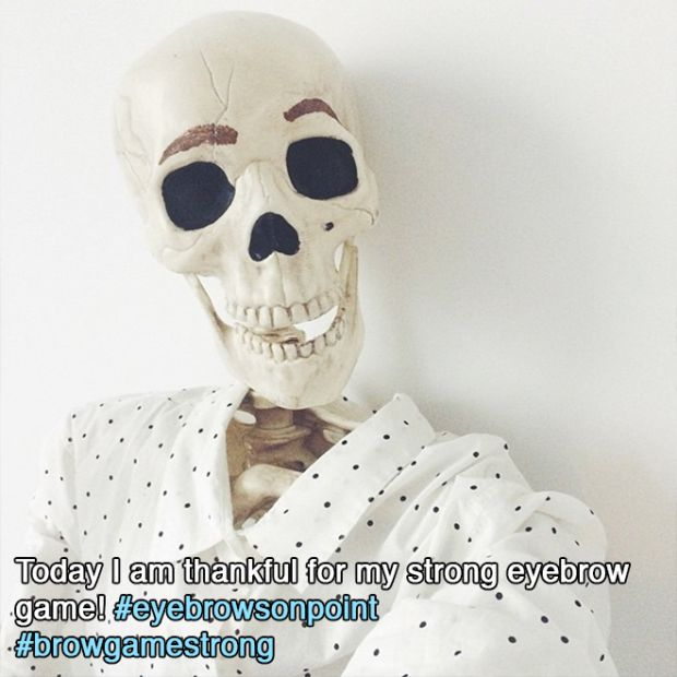 Meet Skellie: The Skeleton Who Imitates Every Girl On Instagram Ever