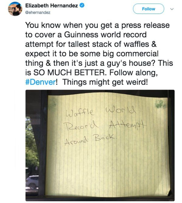 The Waffle Stacking World Record Has Dramatically Been Broken