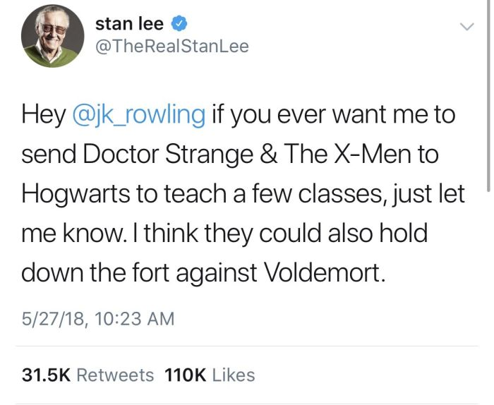 Stan Lee's Twitter Feed Will Give You All The Feels