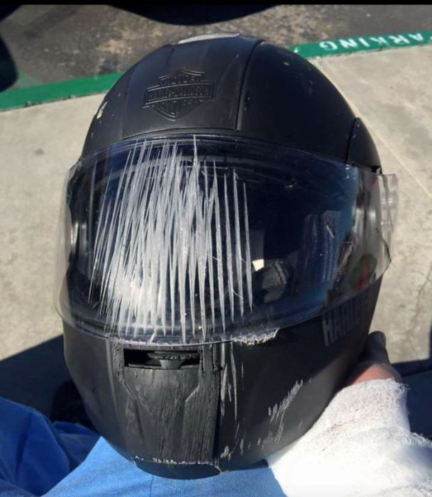 When Helmets Save Lives